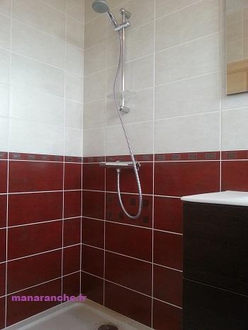 Manaranche salle de bain wc for Carrelage rouge pour salle de bain